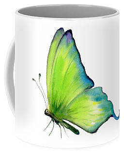 4 Skip Green Butterfly Coffee Mug