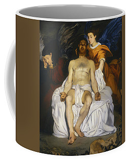 Coffee Mug featuring the painting The Dead Christ With Angels by Edouard Manet