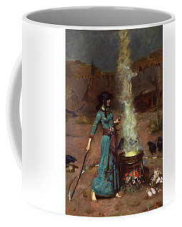 Coffee Mug featuring the painting The Magic Circle by John William Waterhouse