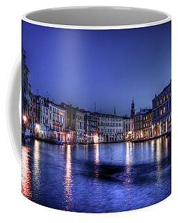 Venice By Night Coffee Mug by Andrea Barbieri
