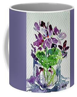 Violet Coffee Mug by Kovacs Anna Brigitta