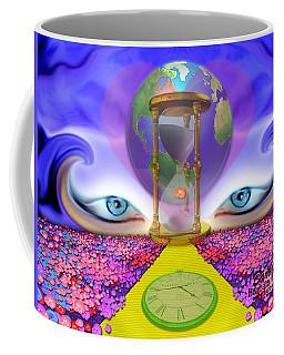 Coffee Mug featuring the digital art 444 Pathway by Barbara Tristan