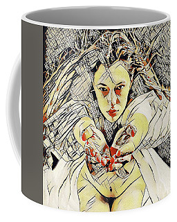 4448s-ab The Succubus Comes For You Erotica In The Style Of Kandinsky Coffee Mug by Chris Maher