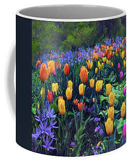 Procession Of Tulips Coffee Mug