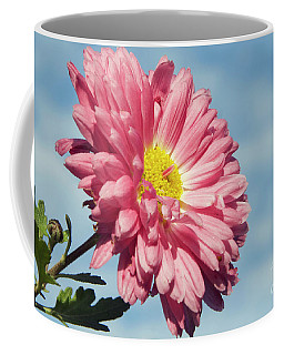 Coffee Mug featuring the photograph Pink Flower by Elvira Ladocki