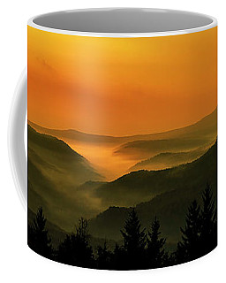 Coffee Mug featuring the photograph Allegheny Mountain Sunrise by Thomas R Fletcher