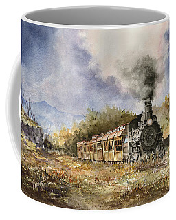 Coffee Mug featuring the painting 481 From Durango by Sam Sidders