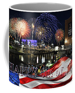 4th Of July 2017 Canalside Buffalo Ny Grand Finale With Text Coffee Mug