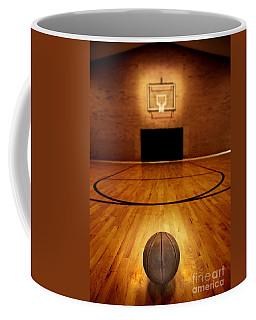 Basketball And Basketball Court Coffee Mug