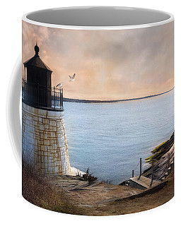 Coffee Mug featuring the photograph Castle Hill Light by Robin-Lee Vieira