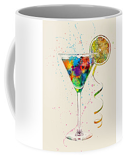 Cocktail Drinks Glass Watercolor Coffee Mug