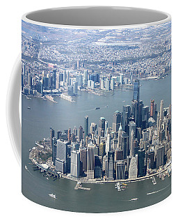 Downtown Manhattan Coffee Mug by Suhas Tavkar
