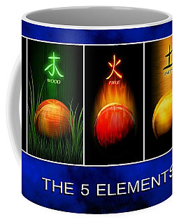 Coffee Mug featuring the digital art Asian Art 5 Elements Of Tcm by John Wills