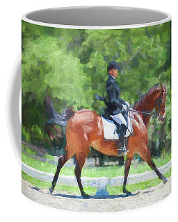 Equestrian Event Rocking Horse Stables Painted  Coffee Mug