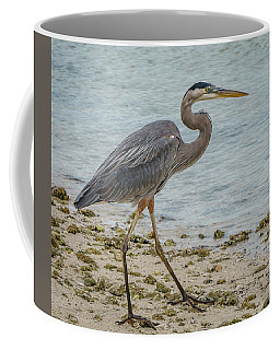 Great Blue Heron Coffee Mug by Jane Luxton