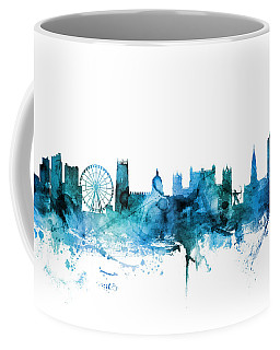 Nottingham England Skyline Coffee Mug