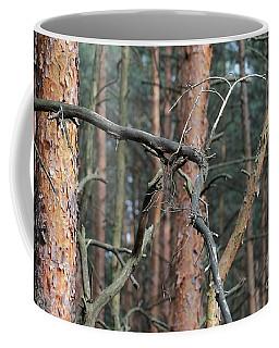 Pine Trees Coffee Mug by Dariusz Gudowicz