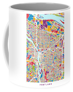Portland Oregon City Map Coffee Mug