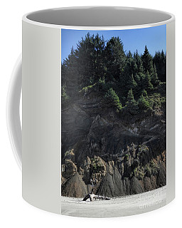 Coffee Mug featuring the photograph Roads End by Peggy Hughes