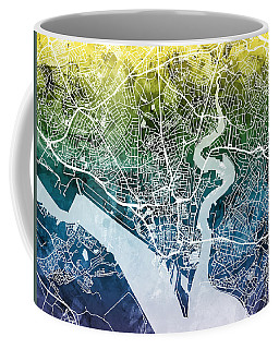 Southampton England City Map Coffee Mug