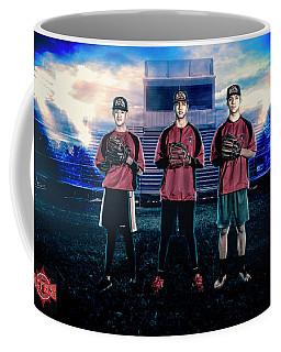 Coffee Mug featuring the digital art Southwest Aztecs Baseball Organization by Nicholas Grunas