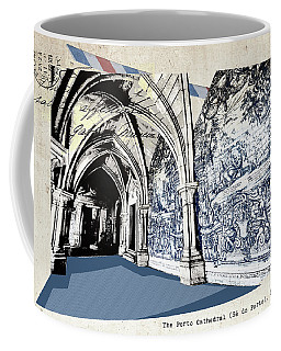 stylish retro postcard of Porto Coffee Mug