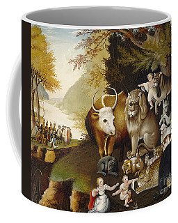 Coffee Mug featuring the painting The Peaceable Kingdom by Celestial Images