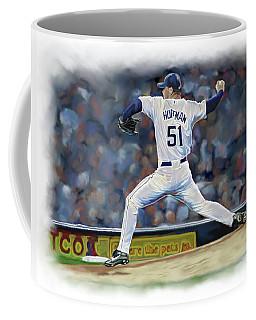 Coffee Mug featuring the photograph Trevor Hoffman by Don Olea