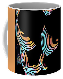 5126s-mak Large Breasts Ribs Abstract View Rendered In Composition Style Coffee Mug by Chris Maher