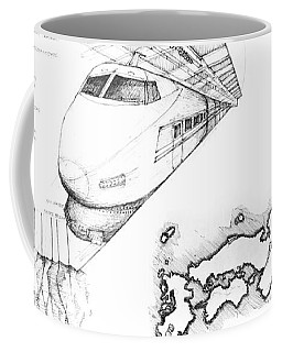 5.1.japan-map-of-country-with-bullet-train Coffee Mug