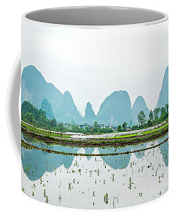 Karst Rural Scenery In Spring Coffee Mug