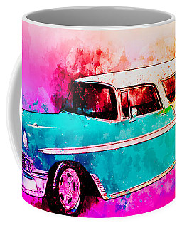56 Chevy Nomad By The Sea In The Morning With Vivachas Coffee Mug