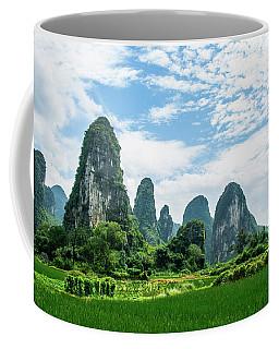 Karst Mountains And  Rural Scenery Coffee Mug