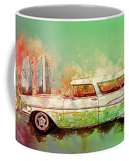 57 Chevy Nomad Wagon Blowing Beach Sand Coffee Mug