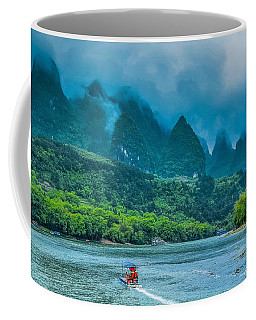 Karst Mountains And Lijiang River Scenery Coffee Mug