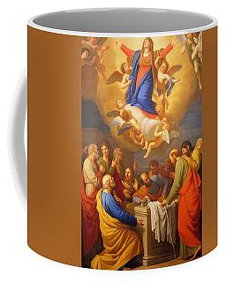 Coffee Mug featuring the painting Angels by Munir Alawi