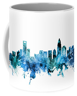 Charlotte North Carolina Skyline Coffee Mug