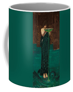 Coffee Mug featuring the painting Circe Invidiosa by John William Waterhouse