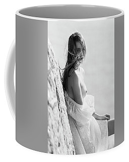 Girl In White Dress Coffee Mug