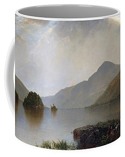 Coffee Mug featuring the painting Lake George by John Frederick Kensett
