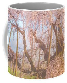 Coffee Mug featuring the photograph Miharu Takizakura Weeping Cherry07 by Tatsuya Atarashi