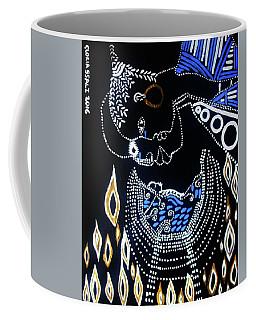 Coffee Mug featuring the painting Nativity by Gloria Ssali