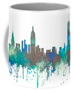 New York Ny Skyline Coffee Mug by Marlene Watson