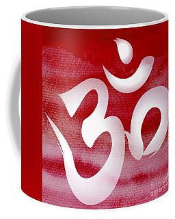 Om Symbol. Red And White Coffee Mug