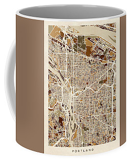 Portland Oregon City Map Coffee Mug