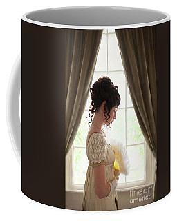 Regency Woman At The Window Coffee Mug by Lee Avison