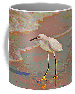 Coffee Mug featuring the photograph 6- Snowy Egret by Joseph Keane