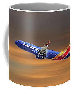 Southwest Airlines Boeing 737-8h4 Coffee Mug