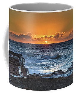 Sunrise Seascape With Sun Coffee Mug