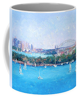 Sydney Harbour And The Opera House By Jan Matson Coffee Mug